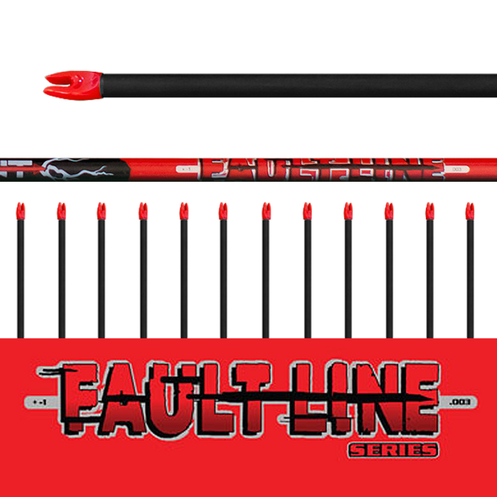 Fault Line Arrows (.003) 12Pk - Bare Shafts