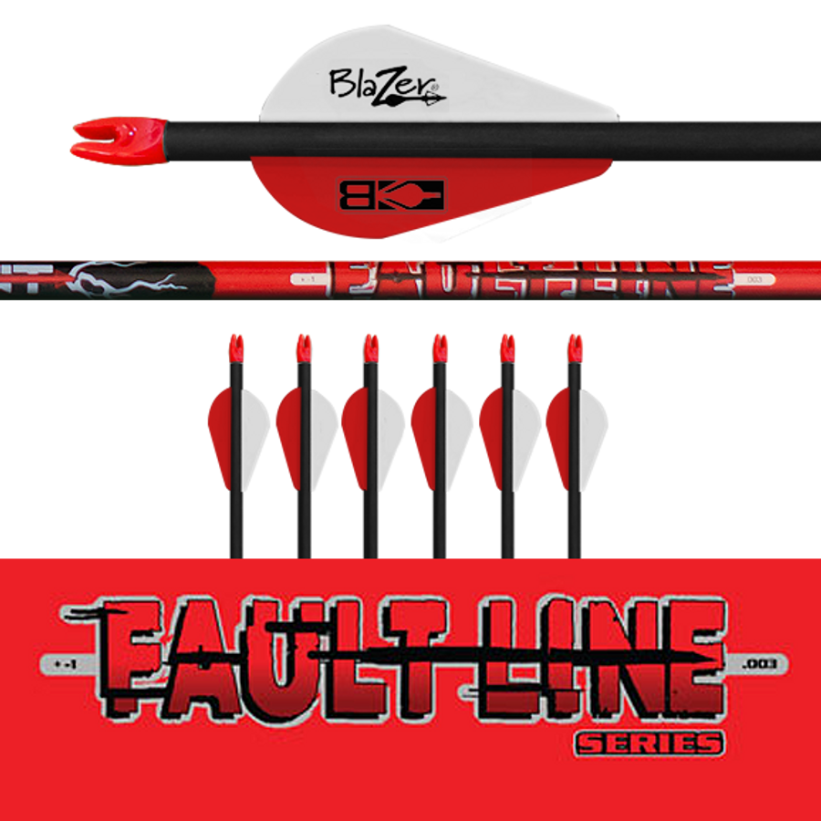 (6) Fletched Fault Line Arrows