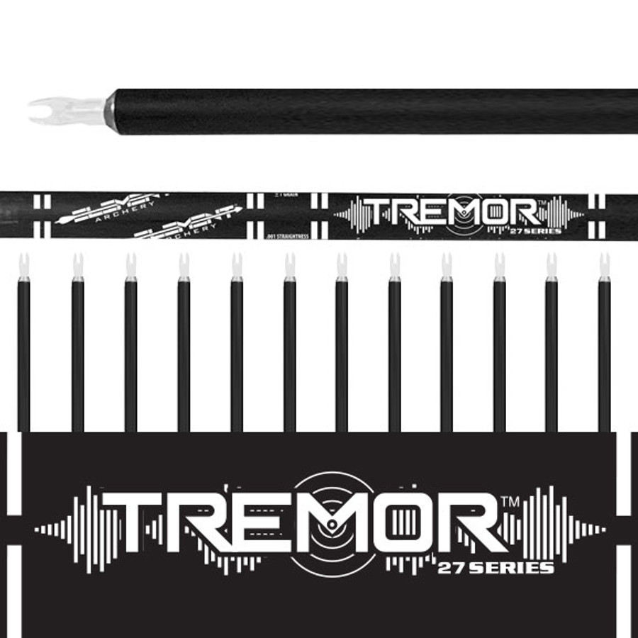Tremor Arrows (.001)-12Pk- Bare Shafts