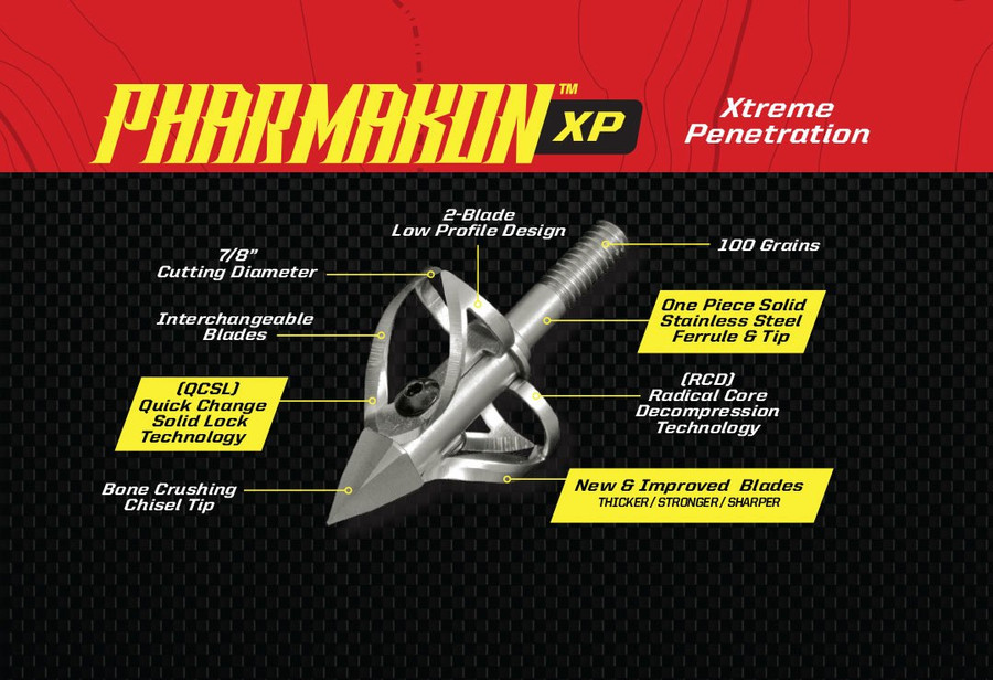 PHARMAKON XP - 2 BLADE 100 GRAIN