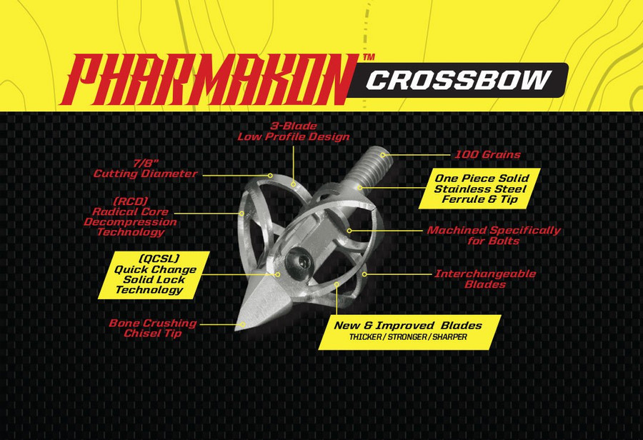 PHARMAKON CROSSBOW - 3 BLADE 100 GRAIN