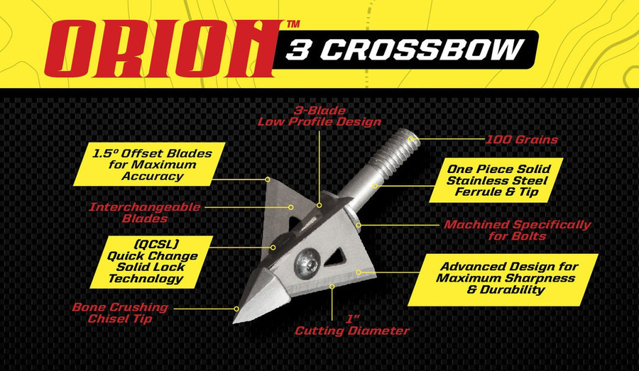 ORION 3 CROSSBOW- 3 BLADE 100 GRAIN