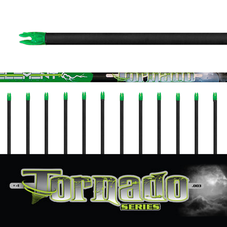 Tornado Arrows (.003) 12Pk- Bare Shafts