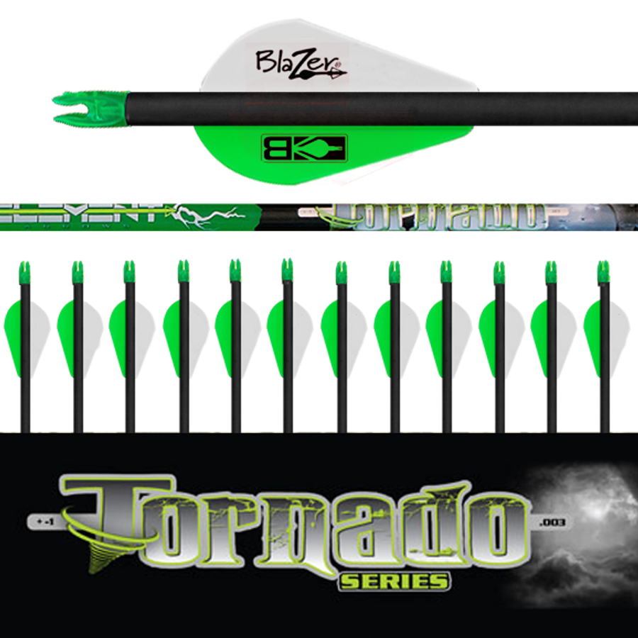 Tornado  Arrows (.003) 12Pk-Fletched
