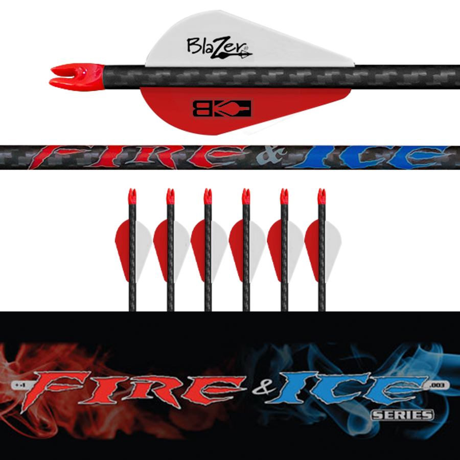 Fire & Ice Arrows (.003) 6Pk-Fletched