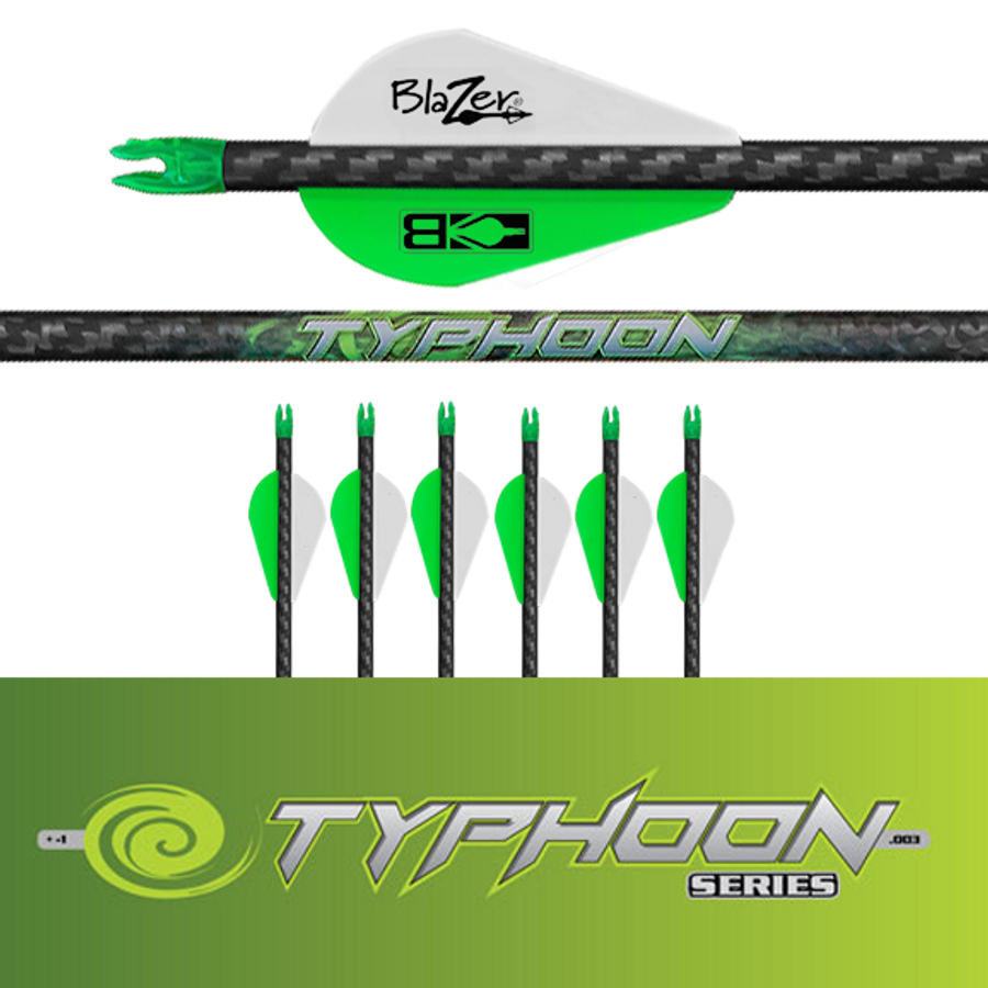 (6) Fletched Typhoon Arrows