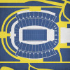West Virginia Mountaineers - Mountaineer Field City Print