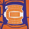 Clemson Tigers - Memorial Stadium City Print