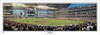 """""""First Pitch"""" Milwaukee Brewers at Miller Park Panoramic Framed Poster"""