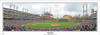 """First Pitch"" Detroit Tigers at Comerica Park Panoramic Framed Poster"