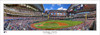 """""""First Pitch"""" Texas Rangers at Globe Life Field Panoramic Framed Poster"""