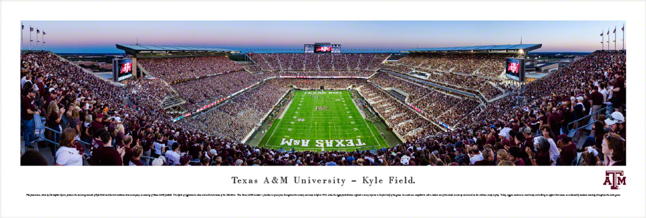 """2015 Opener"" Texas A&M Aggies at Kyle Field Panorama Poster"