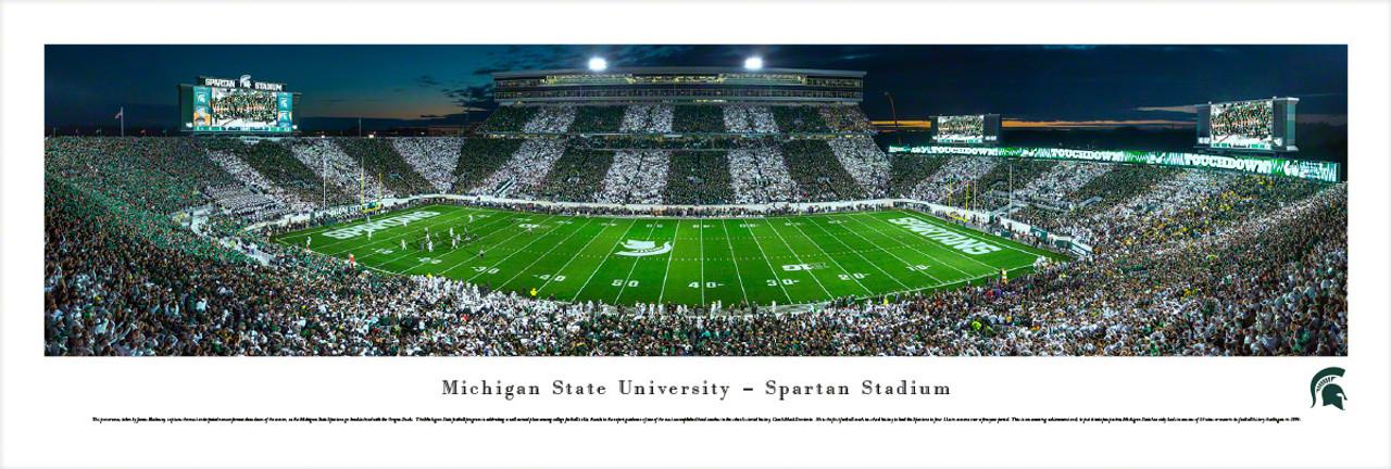"""Michigan State vs Oregon"" Spartan Stadium Panorama Poster"
