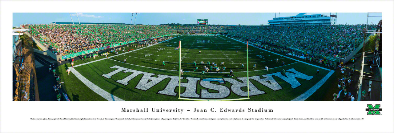 """Kelly Green-Out"" Marshall Thundering Herd Panorama Poster"