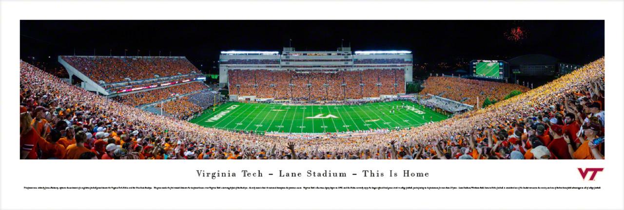 """This is Home"" Virginia Tech Hokies at Lane Stadium Panorama"