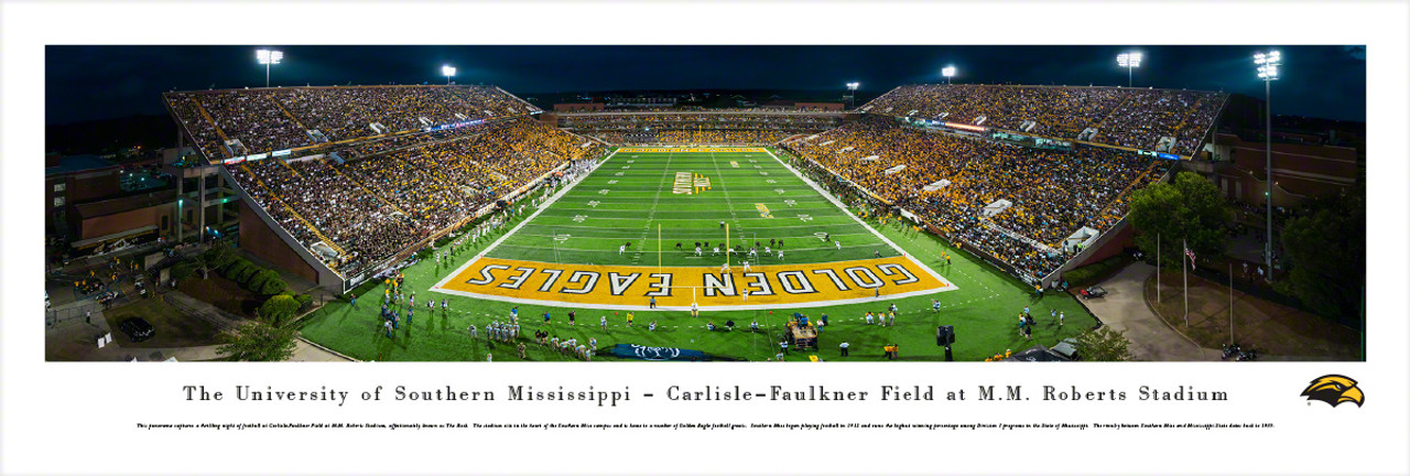 Southern Miss Golden Eagles at Roberts Stadium Panorama Poster