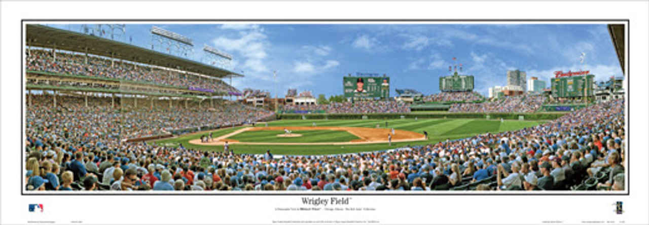 """""""Wrigley Field"""" Chicago Cubs Panoramic Framed Poster"""