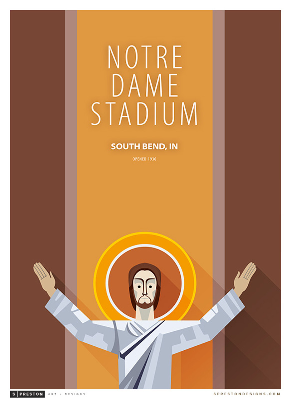 Notre Dame Fighting Irish - Notre Dame Stadium Simple Print