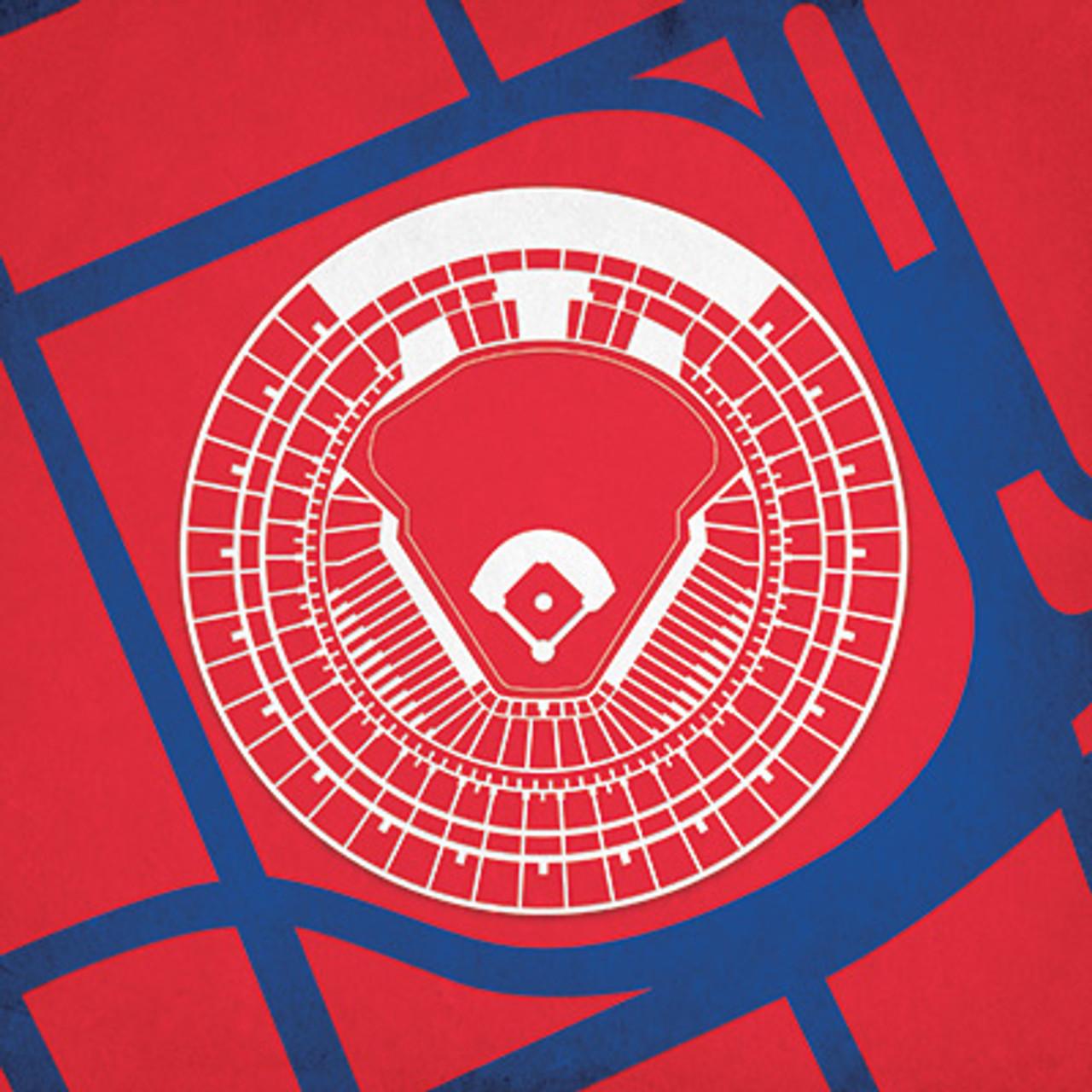 Old Busch Stadium - St. Louis Cardinals City Print