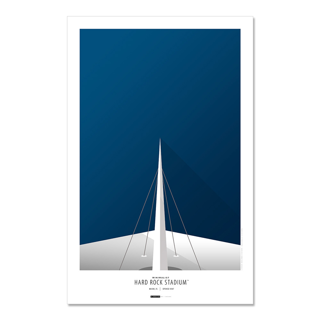 Miami Dolphins -Hard Rock Stadium Art Poster