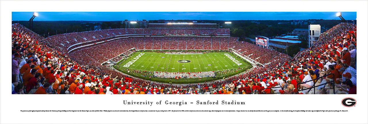 """Georgia vs. Clemson"" Sanford Stadium Panorama Poster"