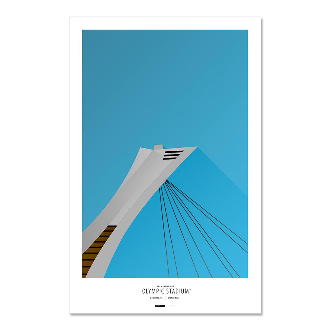 Montreal Expos - Olympic Stadium Art Poster