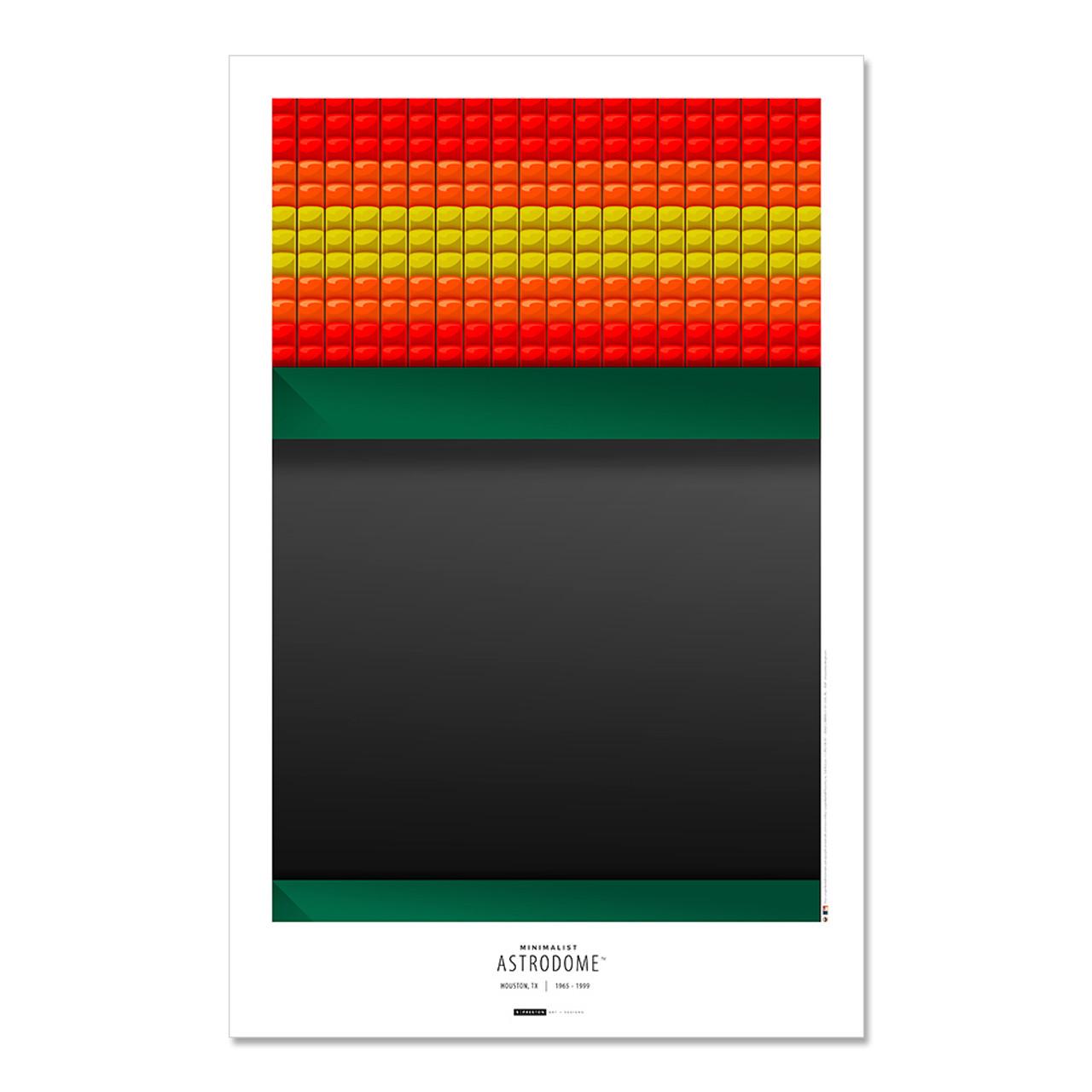 Houston Astros - Astrodome Art Poster