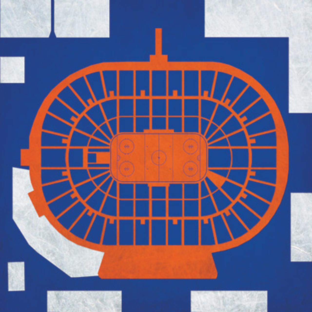 New York Islanders - Nassau Memorial Coliseum City Print