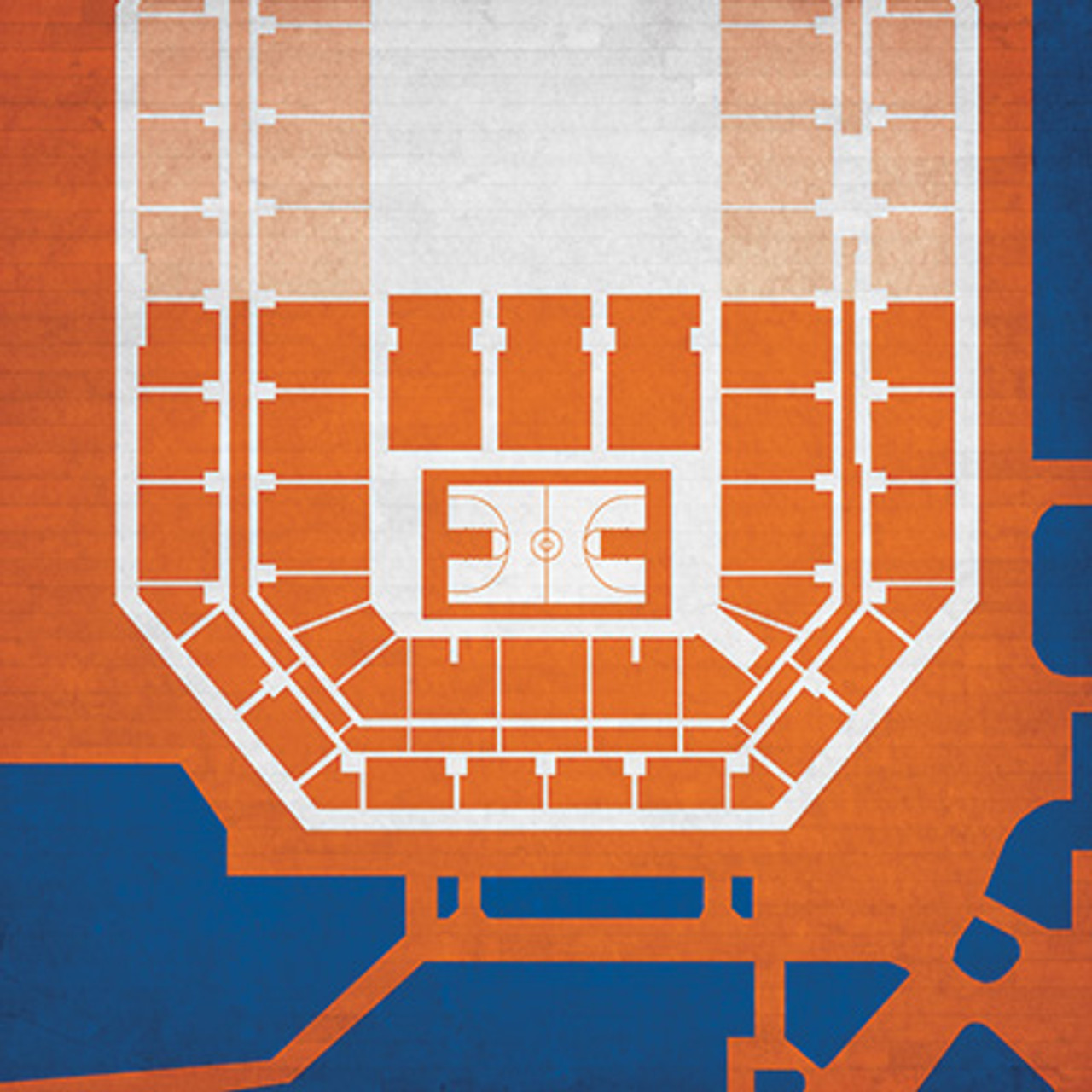 Syracuse Orange - Carrier Dome City Print