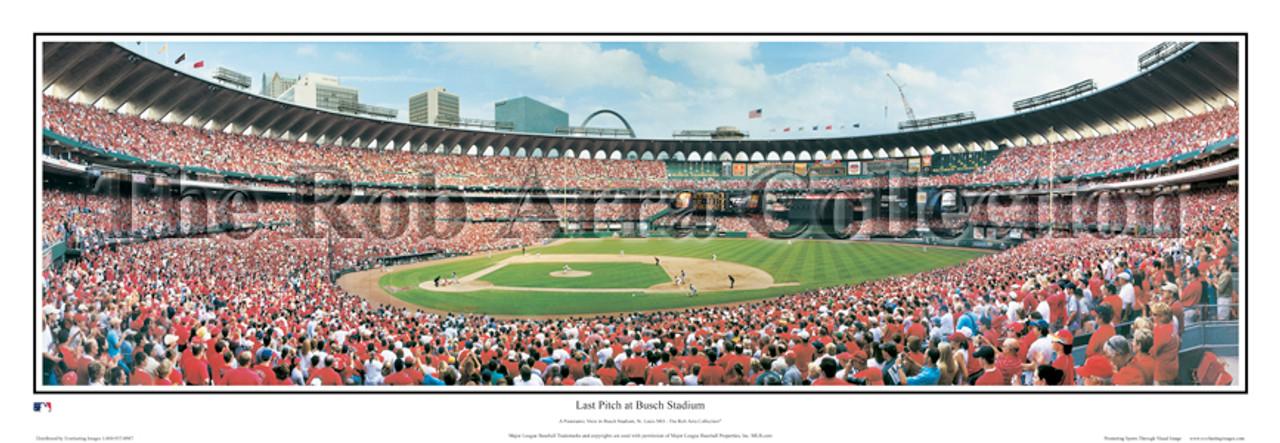 """Last Pitch at Busch Stadium"" St Louis Cardinals Panorama Poster"