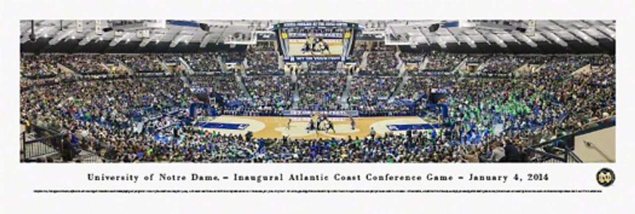 """Inaugural ACC Game"" Notre Dame at Purcell Pavilion Panorama"