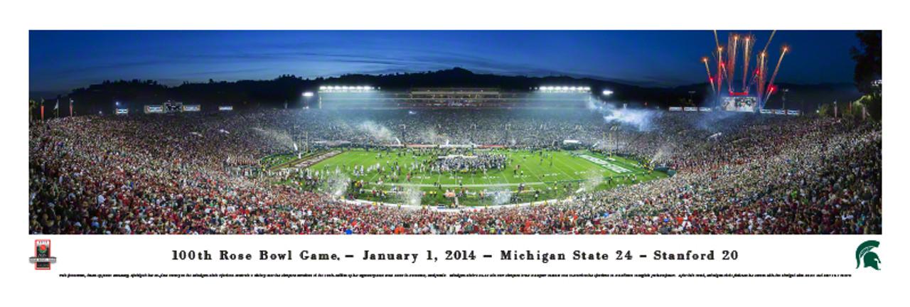 2014 Rose Bowl Michigan State Spartans Panorama Poster The Stadium Shoppe