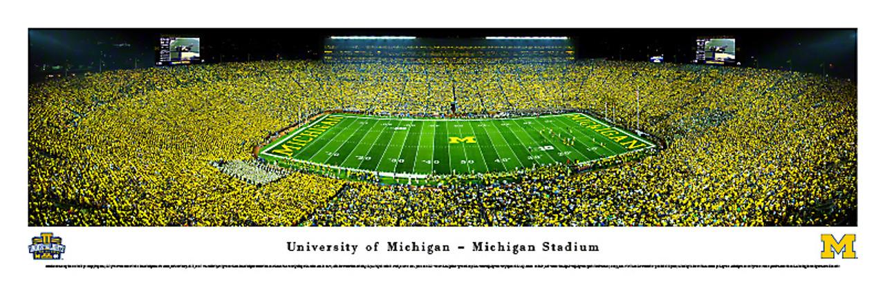 Michigan Wolverines at Michigan Stadium Panorama Poster 1