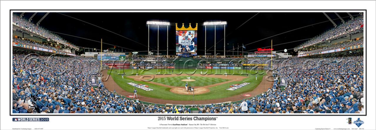 """2015 World Series Champions"" Kansas City Royals Panorama Framed Poster"