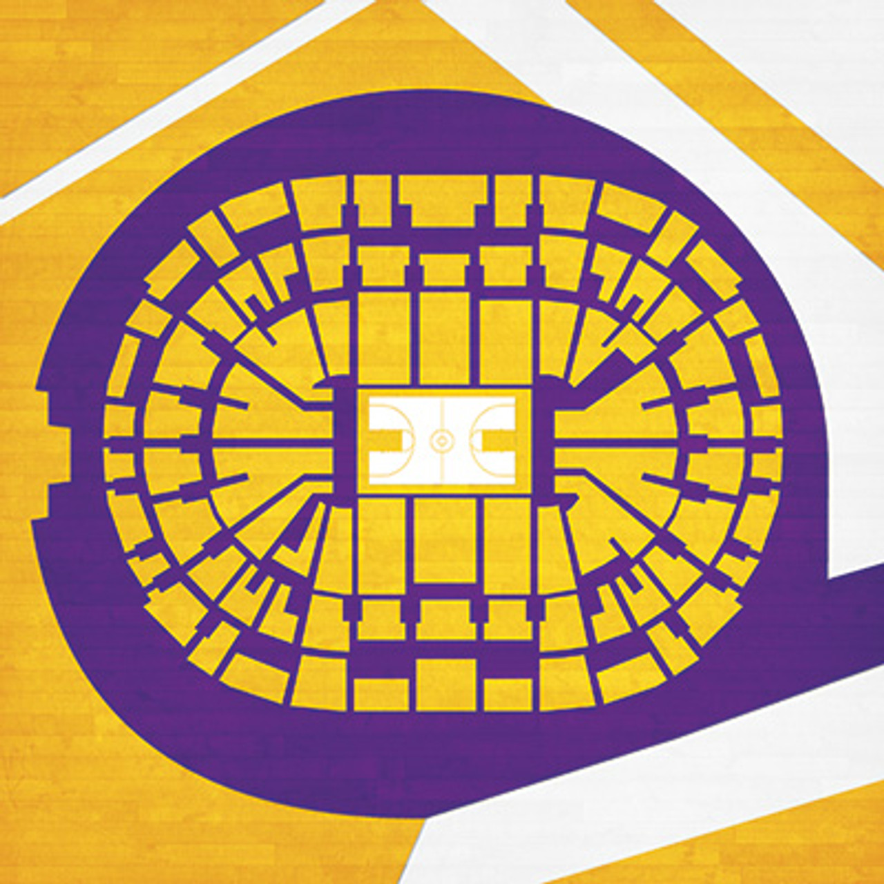 Los Angeles Lakers - Staples Center City Print