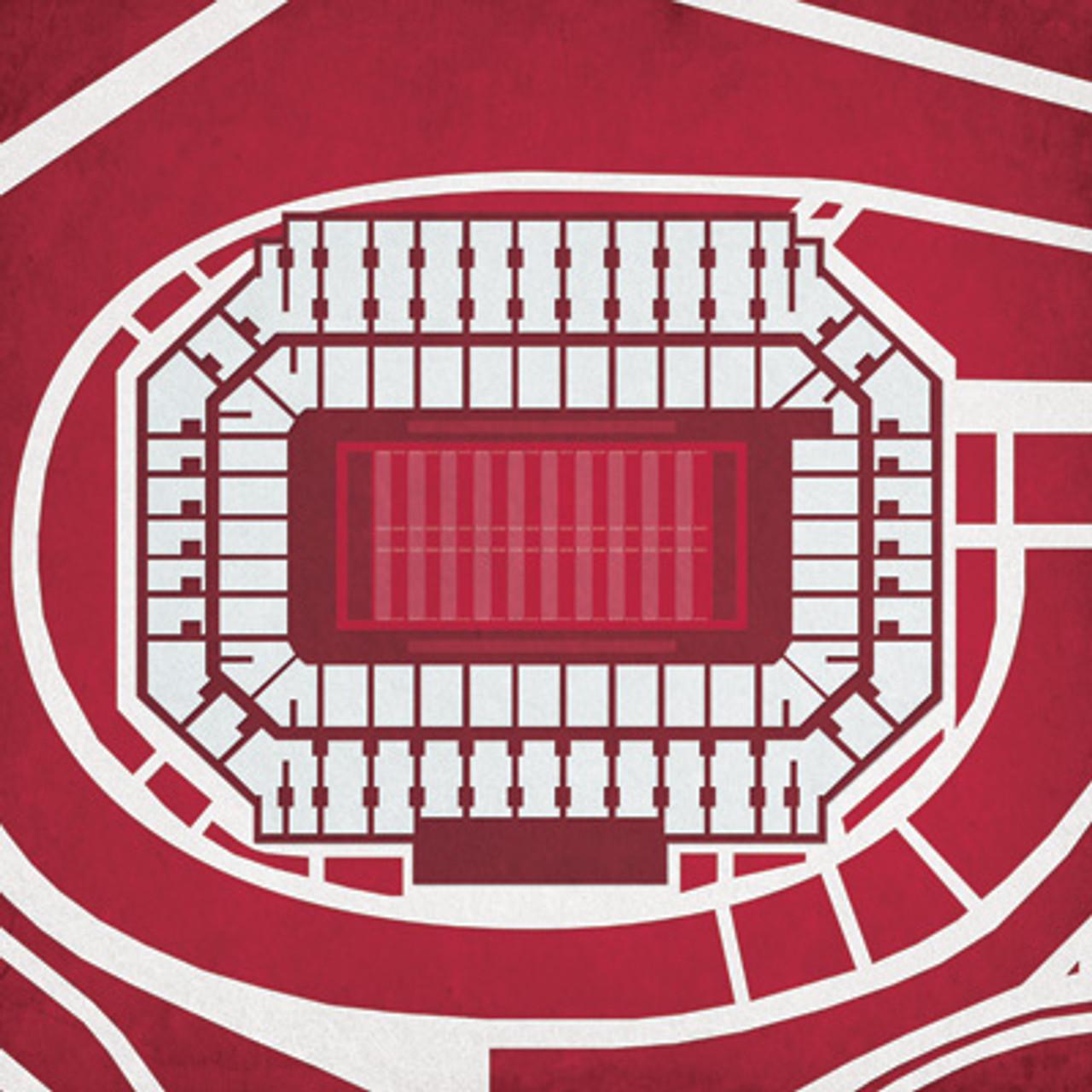 Stanford Cardinal - Stanford Stadium City Print