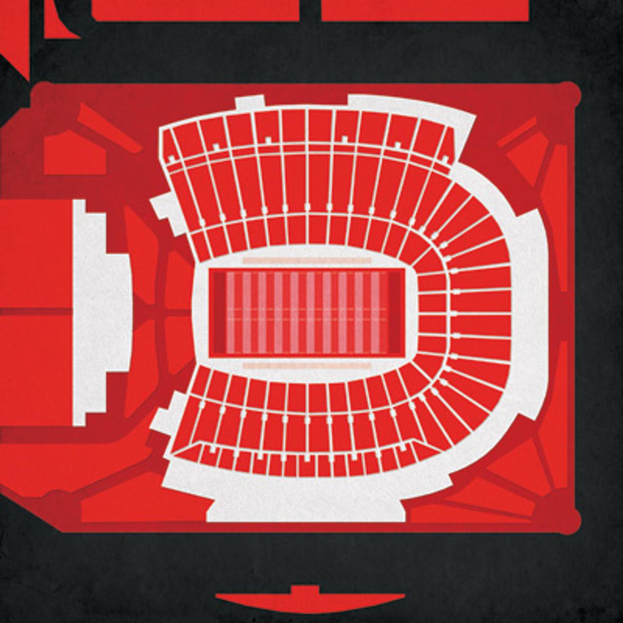 Louisville Cardinals - Cardinal Stadium City Print