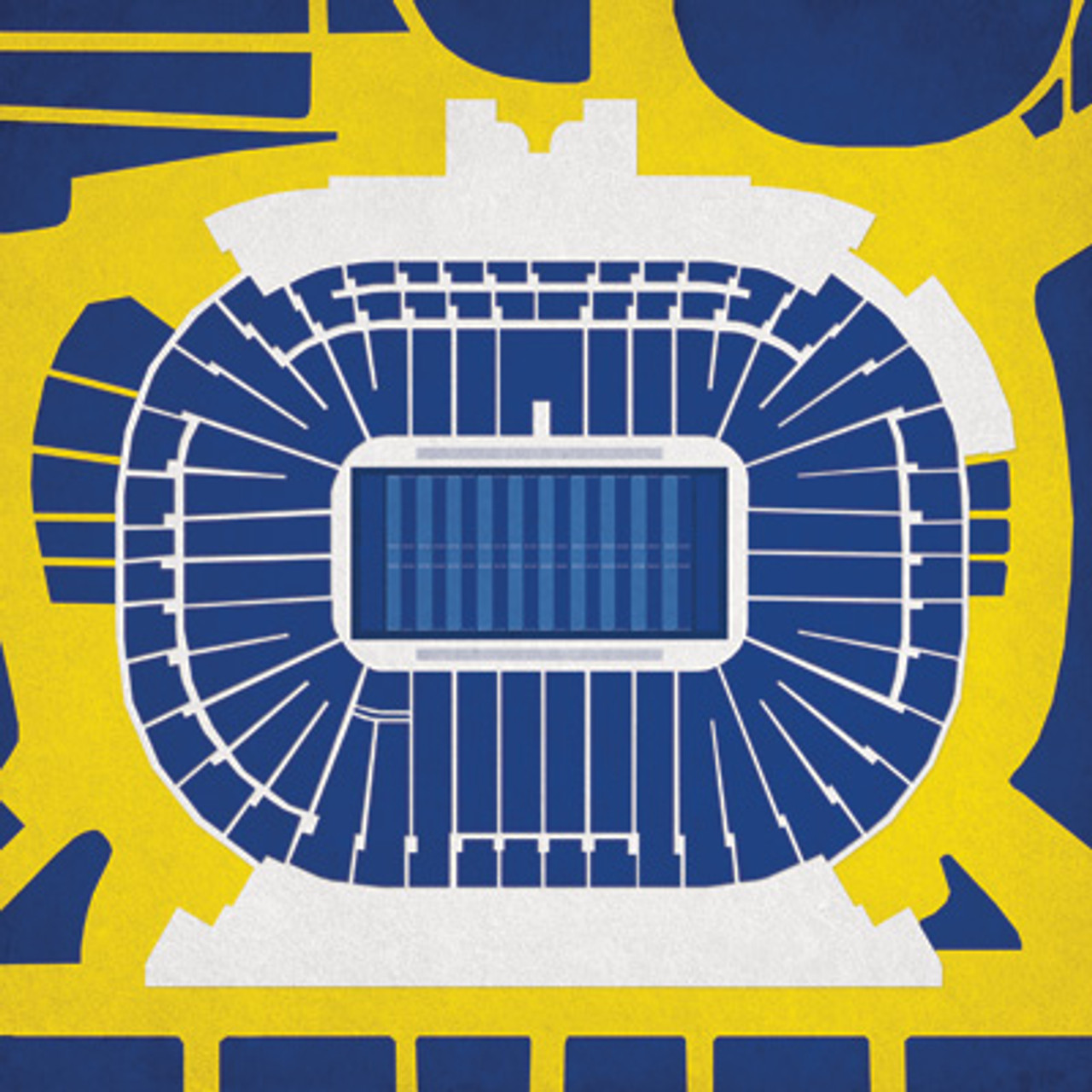 Michigan Wolverines - Michigan Stadium City Print
