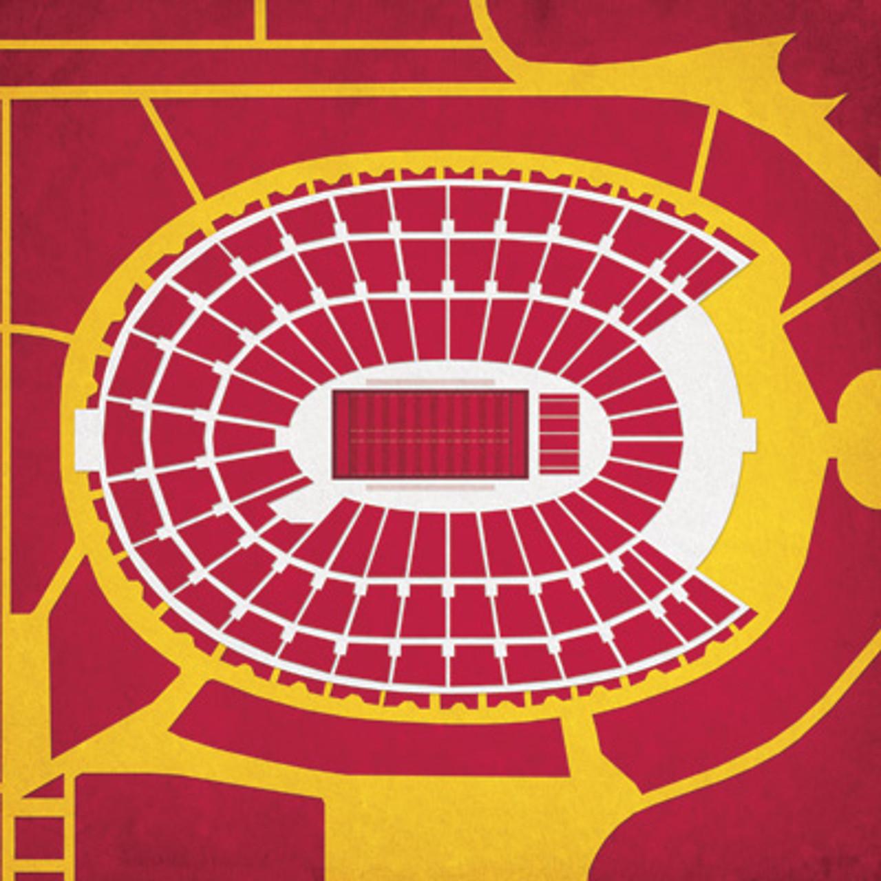 USC Trojans - Los Angeles Coliseum City Print