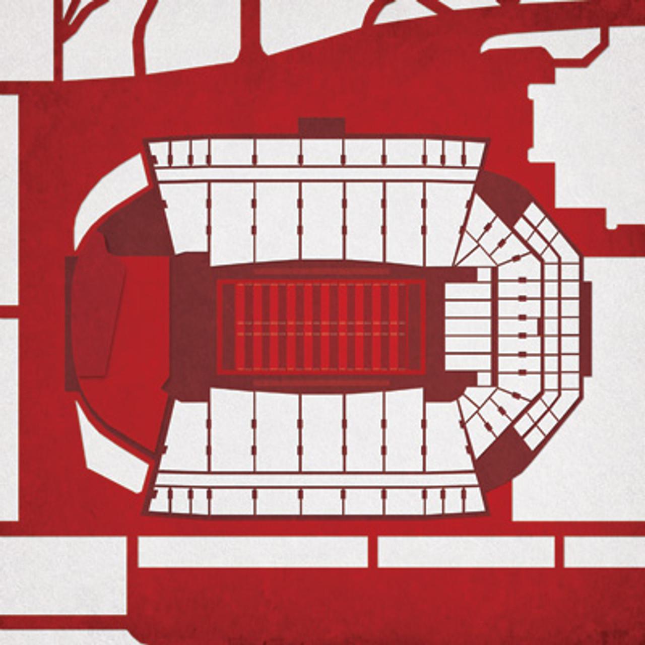 Arkansas Razorbacks - Razorback Stadium City Print