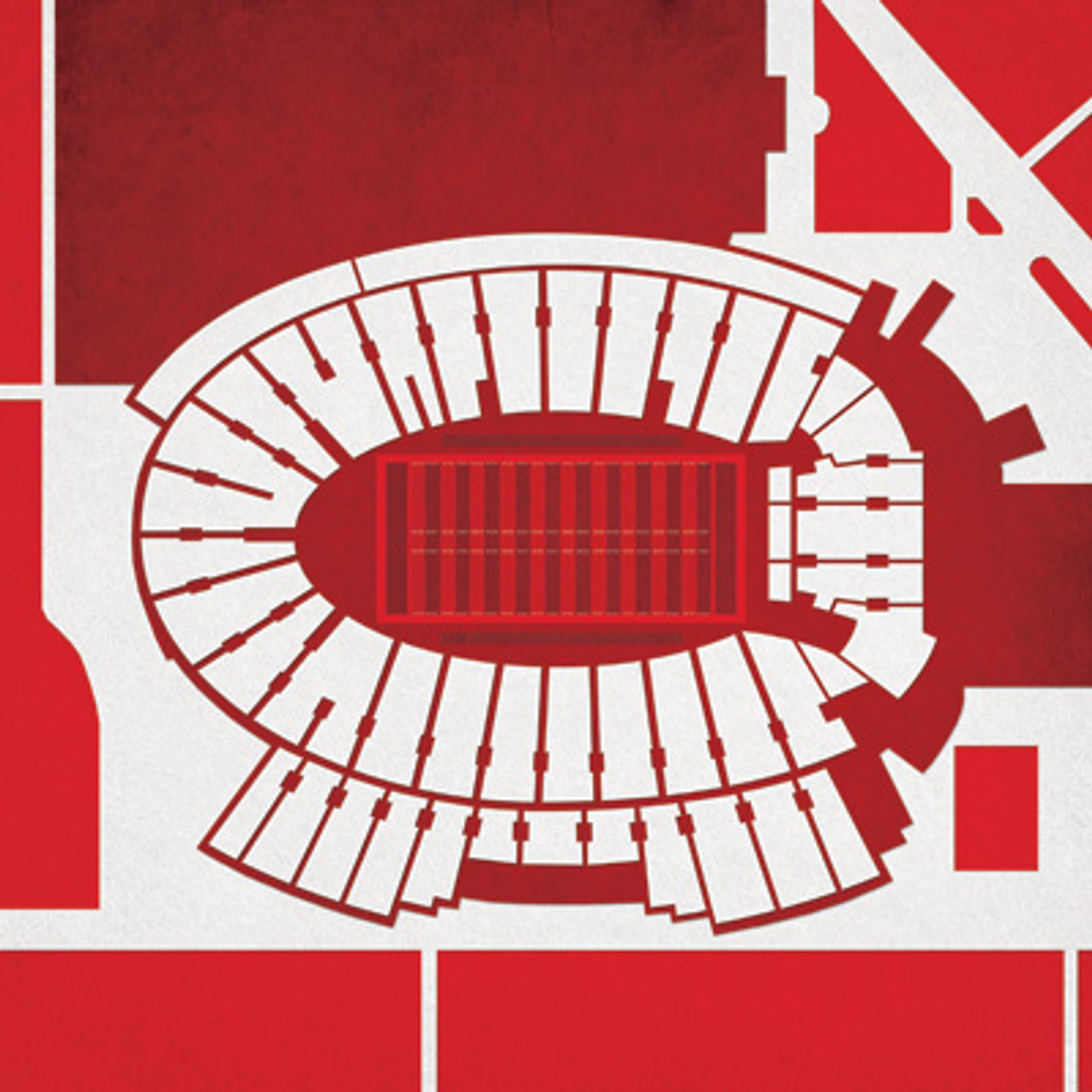 Wisconsin Badgers - Camp Randall Stadium City Print