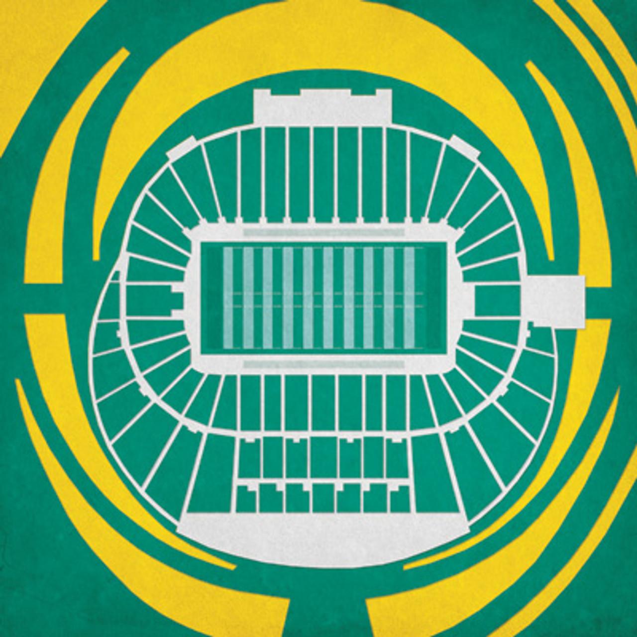 Oregon Ducks - Autzen Stadium City Print