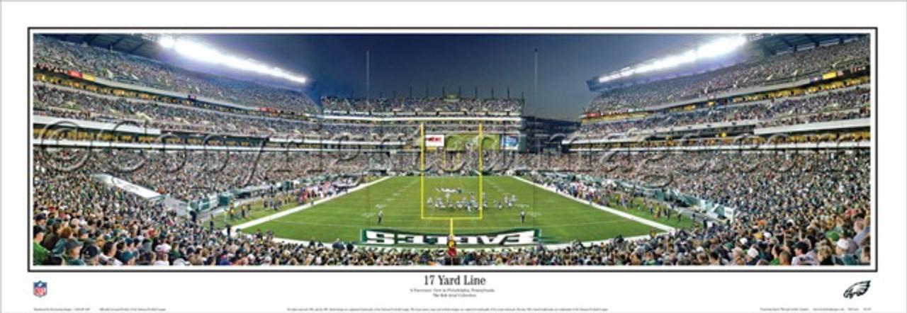 """17 Yard Line"" Philadelphia Eagles Panoramic Poster"