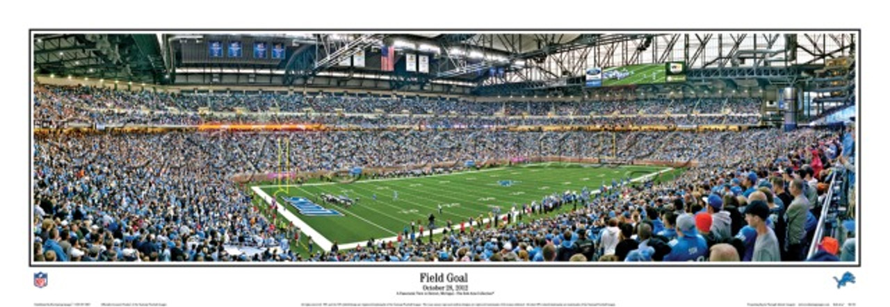 """""""Field Goal"""" Detroit Lions Panoramic Poster"""