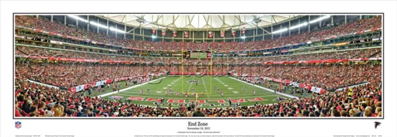 """End Zone"" Atlanta Falcons Panoramic Poster"