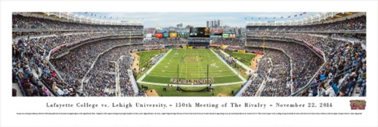 """""""Lafayette vs. Lehigh"""" Yankee Stadium Panorama Poster"""