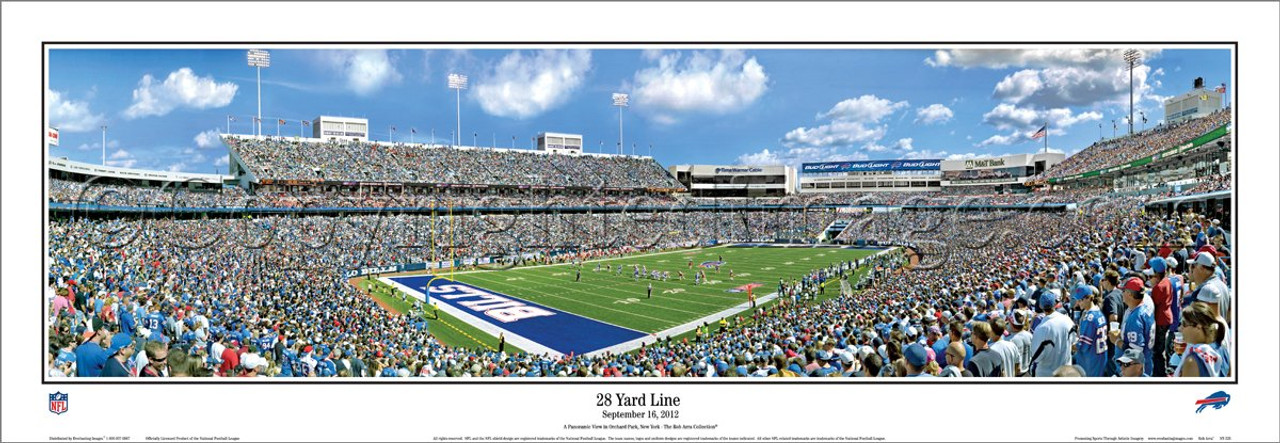 """28 Yard Line"" Buffalo Bills Panoramic Poster"