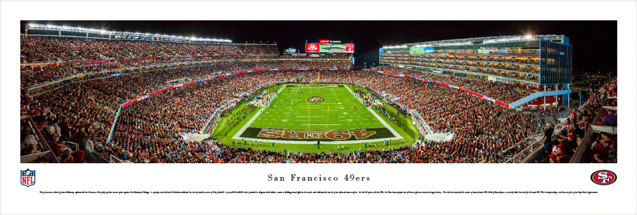 """Endzone"" San Francisco 49ers at Levis Stadium Panorama Poster"
