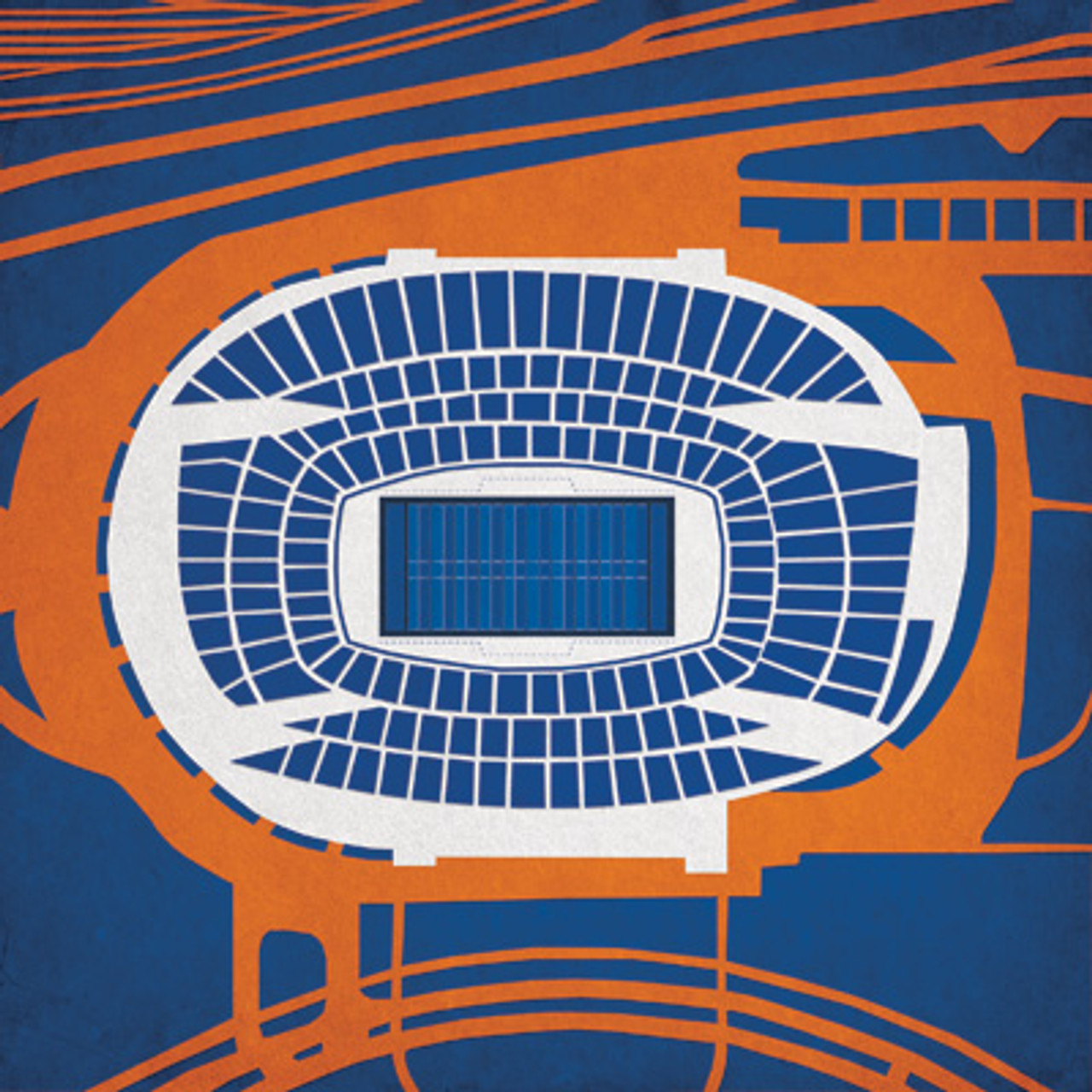 Soldier Field - Chicago Bears City Print