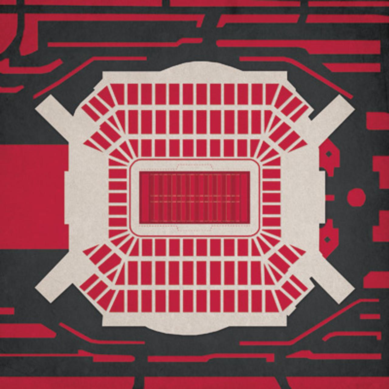 Raymond James Stadium - Tampa Bay Buccaneers City Print